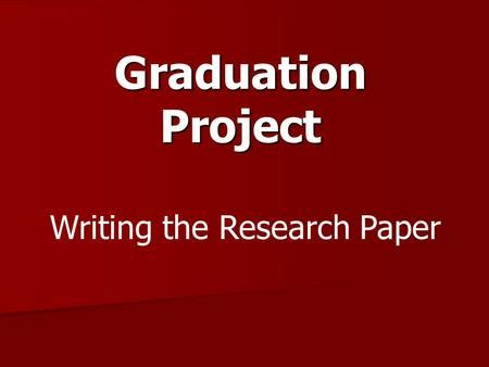 How to Write a Research Paper authorSTREAM